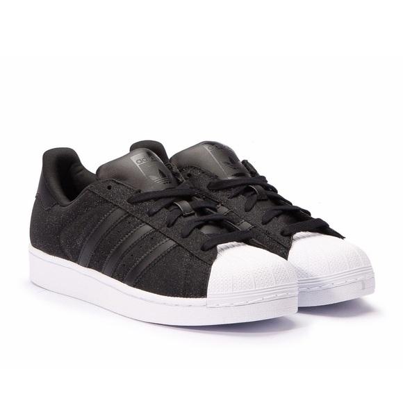 e8f3c201694 adidas Shoes - Adidas women s superstar sparkle glitter black 7